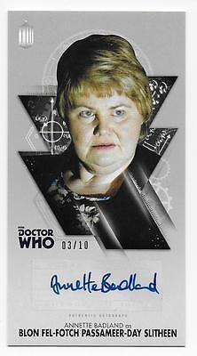 ANNETTE BADLAND as Blon Sltheen DOCTOR WHO 2016 Topps Widevision AUTOGRAPH  3/10