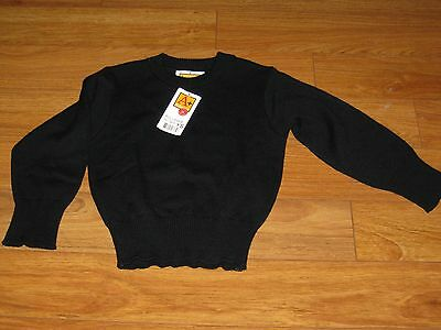 School Apparel Navy Blue Pullover Sweater Long Sleeves Size Kids Small NWT