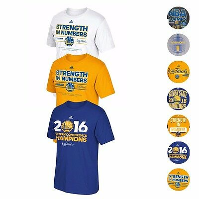 Golden State Warriors Adidas NBA Finals Championship Commemorative T-Shirt Men's
