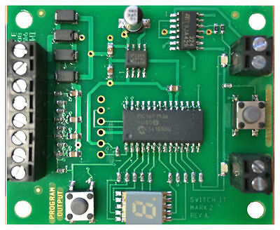 NCE Switch-It Mk2 DCC Stall Motor Tortoise Accessory Decoder 524-154