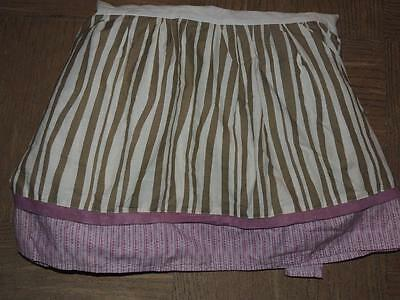 Cocalo Baby Jacana Crib Skirt Dust Ruffle Jungle Purple Lavender