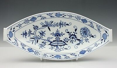 Meissen Blue Onion Pattern Fish Serving Platter Blue & White Crossed Swords