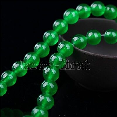 "12mm Natural Green Jadeite Jade Round Gemstone Loose Beads 15"" Strand AAA DIY"