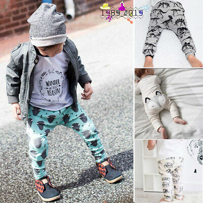 Child Kids Toddler Baby Boy Girl  Animal Long Harem Pants Trousers Leggings 0-4Y