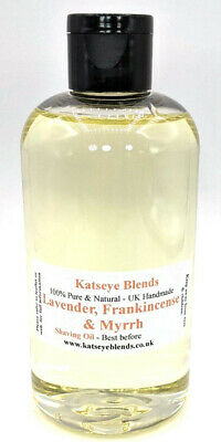 Natural Shaving oil x 250ml with Lavender, Frankincense, Myrrh in Grapessed oil
