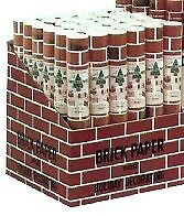 "Brick Paper 7010D Corrugated Brick Paper Display (24""x5' Roll) (36/Display)"