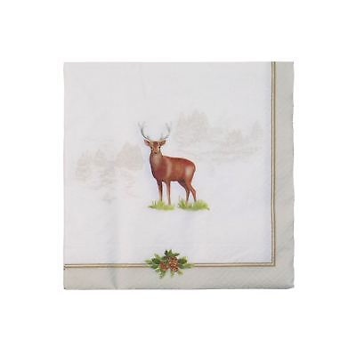 """COUNTRY DEER EMBOSSED 3-PLY 20 PAPER NAPKINS SERVIETTES 13""""x13""""–33X33CM"""