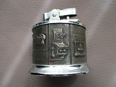 Vintage Idealine Table Lighter With Antique Phone Theme