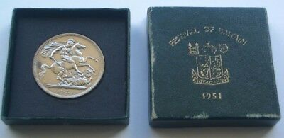 Unc 1951 Festival Of Britain George Vi Crown & Box- 5 Five Shillings Coin