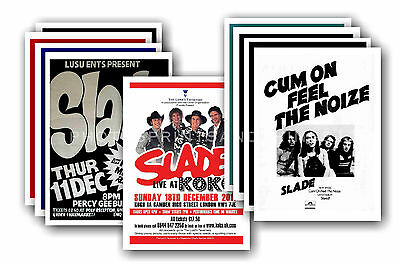 SLADE  - 10 promotional posters - collectable postcard set # 1