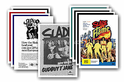 SLADE  - 10 promotional posters - collectable postcard set # 2