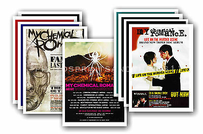 MY CHEMICAL ROMANCE  - 10 promotional posters - collectable postcard set # 1