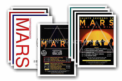 30 SECONDS TO MARS  - 10 promotional posters - collectable postcard set # 2