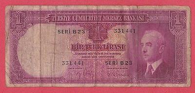1930 (42) Turkey 1 Lira Note