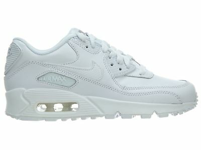 check out 7fb23 d510d Nike Air Max 90 Gs Big Kids 307793-167 White Wolf Grey Athletic Shoes Size