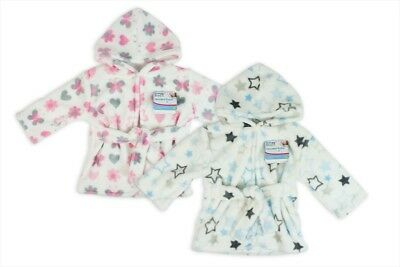 Baby Robe Hooded Soft Fleece Warm Cosy Bath Gift Boy or Girl