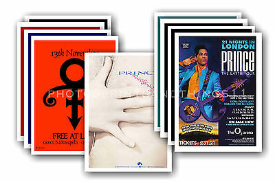 PRINCE  - 10 promotional posters - collectable postcard set # 5
