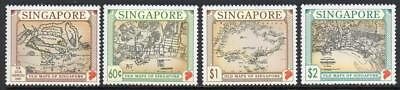 SINGAPORE MNH 1996 Old Maps Set