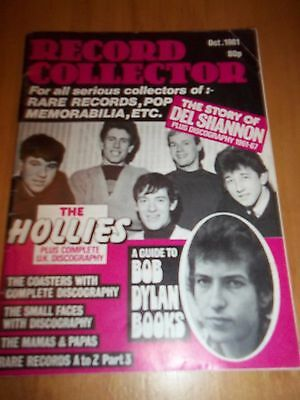 Record Collector magazine (early issue) October 1981 Small Faces, Bob Dylan etc.