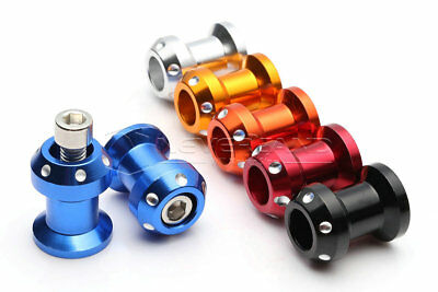 8mm CNC Swingarm Spools Sliders Universal For Suzuki GSXR600 750 1000 GSX1300R