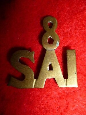 8th South African Infantry Sheet Brass Shoulder Title, WW1