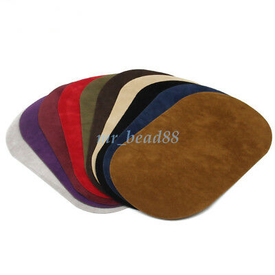 2Pc Faux Suede Leather Iron-on Elbow Knee Patches DIY Repair Sewing Applique New