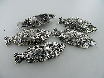 20 PIECES School / Group of Fish Bass Salmon Trout Concho Silver NEW