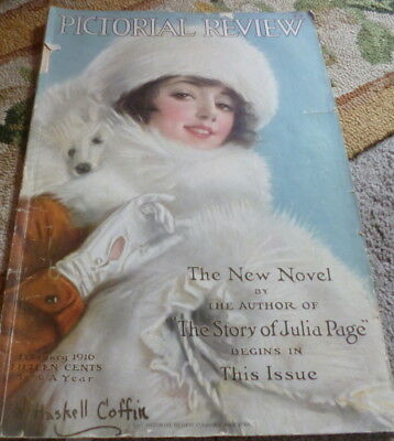 VTG 1910s PICTORIAL REVIEW MAGAZINE Fashion Sewing Pattern Catalog 1921