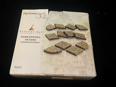 Dept 56 Season's Bay Village Stone Footpath Sections NIB