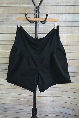 Liz Lange Maternity - Black over the belly COTTON blend chino shorts size XXL 18
