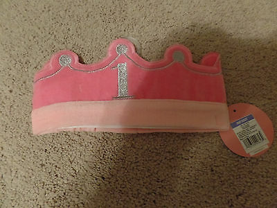 Circo, Girl's, Pink Crown, #1 Birthday, Adjustable, Soft, New with Tags