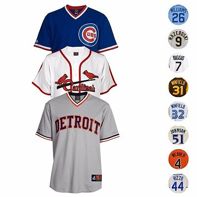 MLB Majestic Athletic Team & Player Men's Official Cooperstown Jersey Collection
