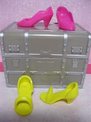 vtg 1980s Hasbro Jem & the Holograms Doll Pumps Shoes-Bright Hot Yellow & Pink