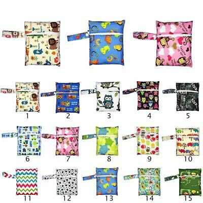 Zip Diaper Design Baby Nappy Bag Washable Wet Dry Cloth Infant Bag Unique AU