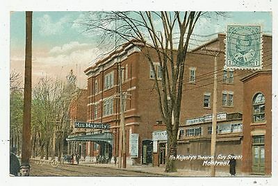 Cpa Post Card Canada Montreal Guy Street His Majesty's Theatre 1910