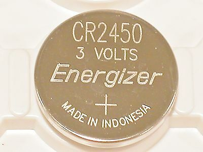 2 NEW BULK ENERGIZER CR2450 ECR 2450 3v LITHIUM BATTERY (TWO BATTERIES) BULK