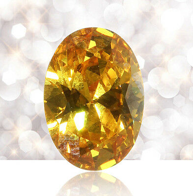 Jewelry Gifts Yellow Sapphire Natural Loose Gemstone Gem Oval Shape 10 x 14mm