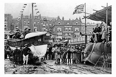 pt3624 - Princess Mary Christening Scarborough Lifeboat , Yorkshire - photo 6x4