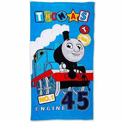 THOMAS THE TANK & FRIENDS PATCH TOWEL BEACH BATH KIDS COTTON 140cm x 70cm