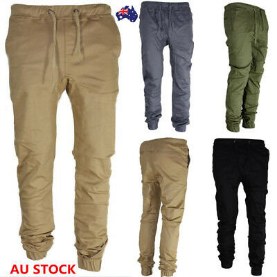 Men's Sport Long Pants Boy Joggers Sweatpants Skinny Trousers Running Gym Pants