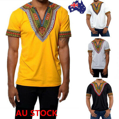 African Dashiki Men Shirt Festival Hippie Tribal Poncho Mexican Ethnic Boho Tops