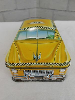 Vintage 1980s Ian Logan's Carlectables Yellow New York Taxi Tin Collectable Exc.
