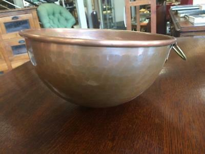 "Vintage Hand Hammered Copper Cordon Bleu ""Divertimenti"" Mixing/ Cooking Bowl"