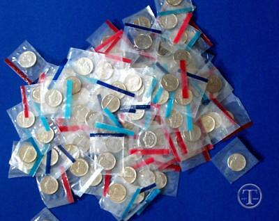 Lot of 40 1968-1998 BU Uncirculated Nickels in Mint Cello- Mixed Dates=One roll