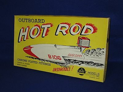 """1950's NEW-OLD STOCK """"HOT ROD"""" MODEL HYDROPLANE RACING BOAT KIT - NEVER BUILT !"""