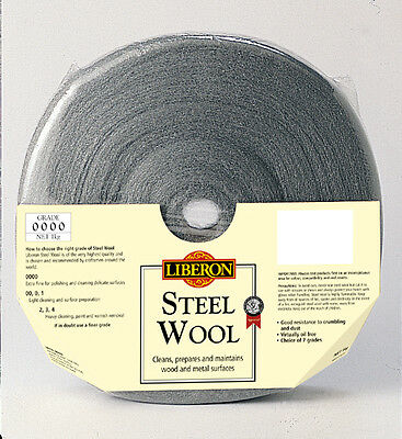 New Top Quality Grade 0000 Ultrafine Liberon Steel Wool Choice Of Size