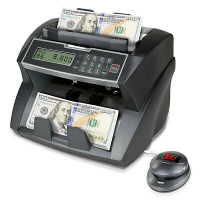 Pyle PRMC820 Automatic Digital Counterfeit Detection Banknote Money Bill Counter