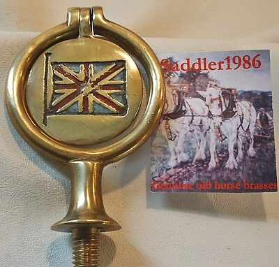 *collectable Union Jack Horse Brass Swinger*