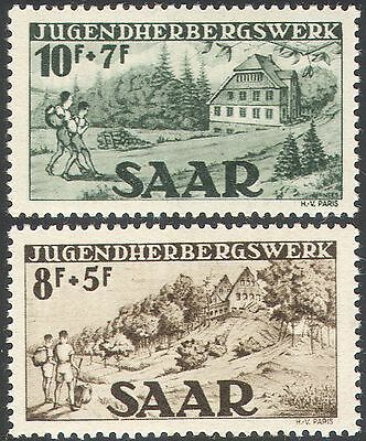 Saar 1949 Youth Hostel Fund/Buildings/Architecture/Trees/Tourism 2v set (n42054)