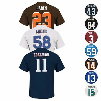 "NFL ""Eligible Receiver"" Current Player Name & # Jersey T-Shirt Collection Men's"